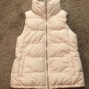 Old Navy Cream/Ivory Puffer vest
